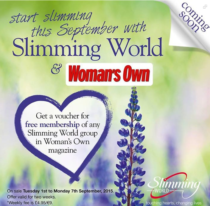 Slimming World Free Membership Voucher For Joining A