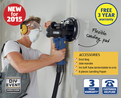 Drywall sander aldi special buy this sunday 27 09 for Aldi gardening tools 2015