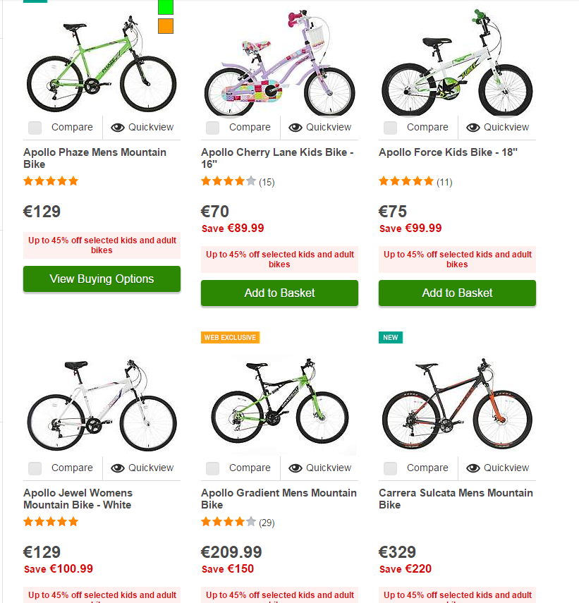 Halfords – Up to 45% off selected kids and adult bikes – Bargain Ireland