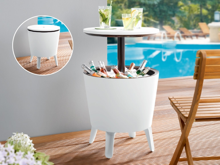 livarno living party table with built in ice bucket 49