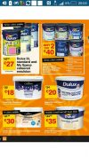 B&Q – Massive sale on paint – All Dulex 5L only  €27 and various others discounted – follow the link to the brochure for details