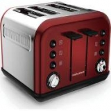 MORPHY RICHARDS Accents 242030 4-Slice Toaster – Red now only €44.99 (WAS €64.99 Save 31%) – @ currys.