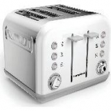 MORPHY RICHARDS Accents 242032 4-Slice Toaster – White now only €44.99 (WAS €64.99 Save 31%) – @ currys.