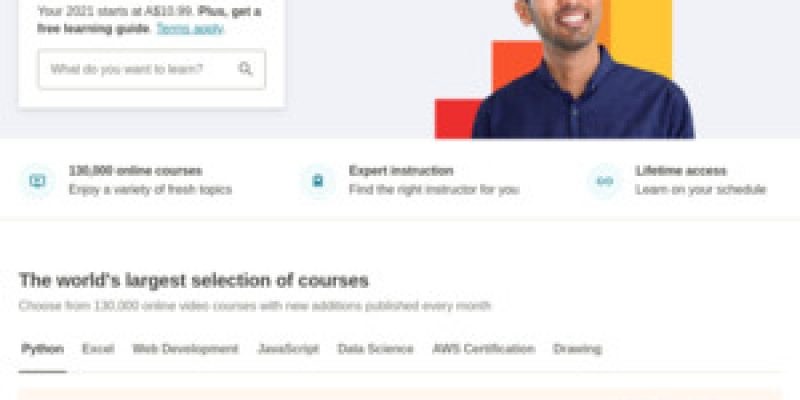 $0 80 Udemy Courses: JavaScript, Python, Excel, React JS, Git & Github & More