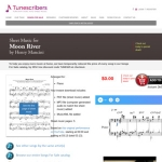 [eBook] Piano Sheet Music PDF – Moon River by Henry Mancini from Breakfast at Tiffany's @ Tunecribers