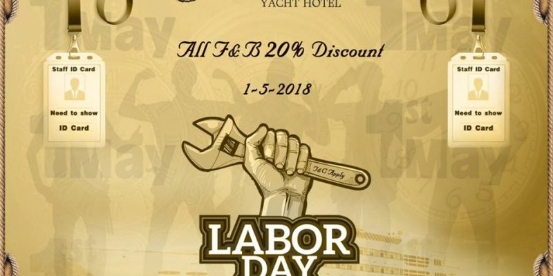 """Happy May Day""just waiting for you at Vintage Luxury Yacht Hotel."