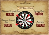 "Pay only 20,000 mmk and be a part of ""Dart Board Hero"" and win the exciting awards."