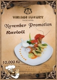 Vintage Luxury Festive Promotion Offer for November Month– Food at 10,000Ks  only.