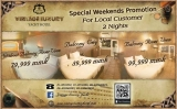 #VLYH special weekend room promotion for local customers.