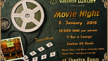 """Come with your loved one for the """"Special Romantic Movie Night"""" with Dinner  Date on 5th January 2019."""