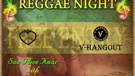 Appreciate the amazing surviving Reggae music present by the popular saw phoe kwar with the One Love Band @Vintage.
