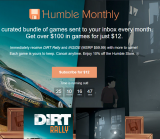 "Humble Monthly This Month Includes ""DiRT Rally"" and ""INSIDE"" + More for US $12 (€16.00 EUR)"