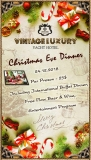 Christmas Eve Dinner buffet on 24th of December at Vintage.