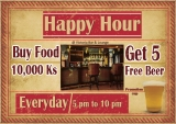 """Happy Hour""just waiting for you at Victoria Bar."