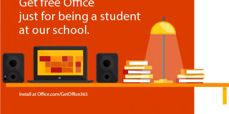 Free Microsoft Office 365 for all Students and teachers!