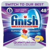 Finish Quantum Lemon 48 Dishwasher Tablets now only €13 (WAS €21 Save 38%) – @tesco