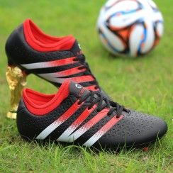 Get Professional Anti-slip Soccer Shoes Lace-up Football Cleats for Men- $ 16.99