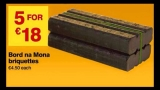 B and Q – New deals starting today  – Bord na Mona Briquettes €5 for €18, Electric Convector Heater €19 & more