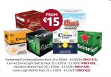 Expired:Bulmers and Bulmers light 20 x 300ml bottles €18 & Budweiser 20 x 300ml bottles €15 @Supervalu from Thursday 30/06/16