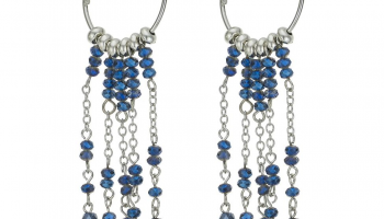 Designer blue bead hoop drop earring now only €5.40 (WAS €14.40 Save 62%) – @debenhams.