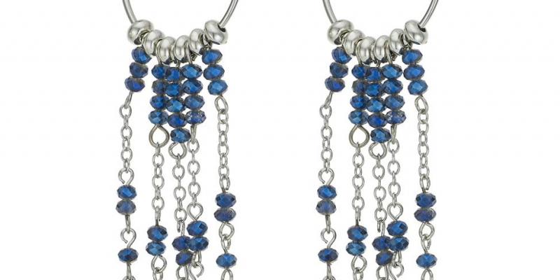 Designer blue bead hoop drop earring now only €5.40 (WAS €14.40 Save 62%) – @debenhams.