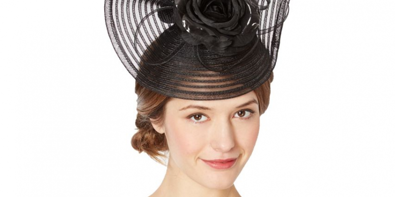 Designer black striped crinkle flower hair piece   now only €3 (WAS €136 Save 98%) – @ debenhams.