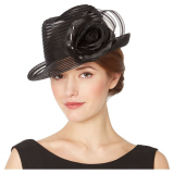 Designer black striped floral hat now only €3 (WAS €109 Save 97%) – @ debenhams.