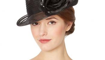 Designer black striped floral hat now only €3 (WAS €109 Save 97%) – @ debenhams.