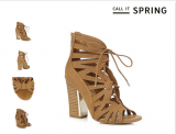 Expired: Call It Spring Tan 'Aleawen' high gladiator sandals 70% Off  Was € 62.00 Now € 18.60 – Save €43.40 @Debenhams