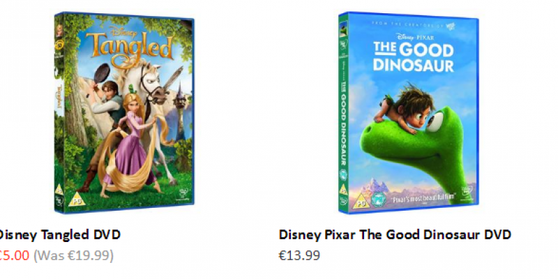 Expired: All Disney DVD's reduced to €5.00 (was: €19.99) @Smyths inc. Frozen, Little Mermaid, The Lion King etc