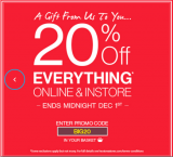 Heatons – Black Friday 20% off everything promo code