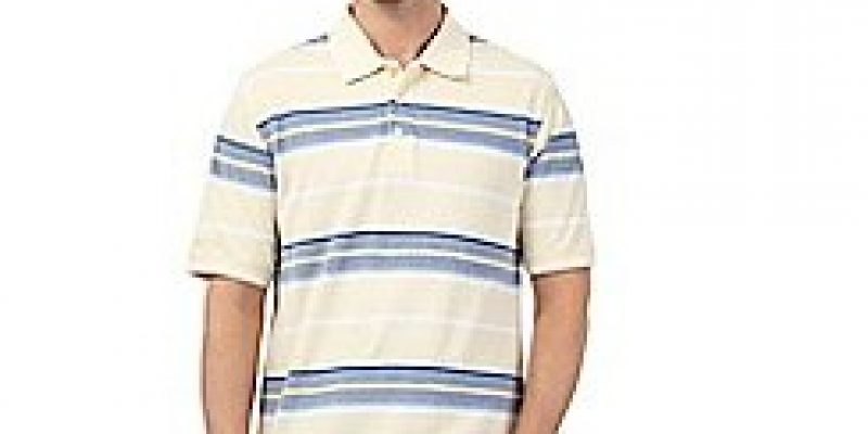 Big and tall yellow striped print polo shirt now only €32 (WAS €22.40 Save70%) – @ currys.