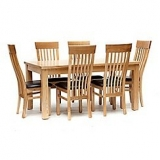 Ash Denver large extending table and 6 chairs now only €1,650 (WAS €3.300 Save 50%) – @ debenhams.