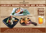 Vintage Luxury Festive Offer On January   Promotion– Food+Beer(Free) at 10,000Ks