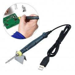Mini USB 5V 8W Electric Soldering Iron Pen / Tip