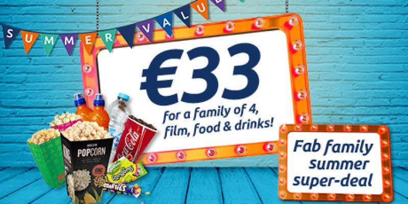 Expired: ODEON OFFER – Families of four can enjoy film, food and drink for only €33, and families of 3 only €29 @ODEON Cinemas