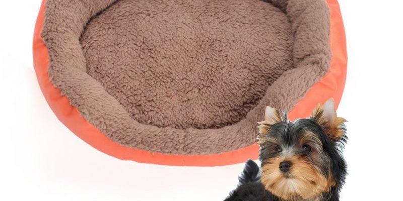 Round Shape Candy Color Polar Fleece Dog Cushion Bed