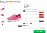 Expired: Skechers Go Walk 3 Shoe (Size 7 only) – Was €74.00 Now €34.00 Save €40.00 @Littlewoods