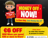 Expired: Black Friday Special – €6 off when you spend €25 or more voucher @ Smyths Toys until Monday 28/11/16