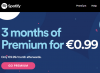 Spotify Premium – 3 months of Premium for €0.99 (new customers)
