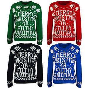 Merry Christmas Ya Filthy Animal Christmas Jumper For