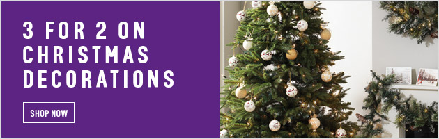 3 for 2 on christmas decorations at argos bargain ireland for Christmas decorations home bargains