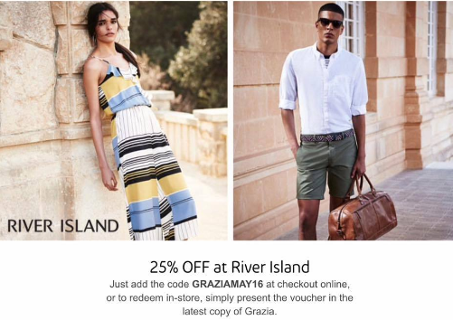 Discount Code For 25 Off Full Priced Items River Island Valid
