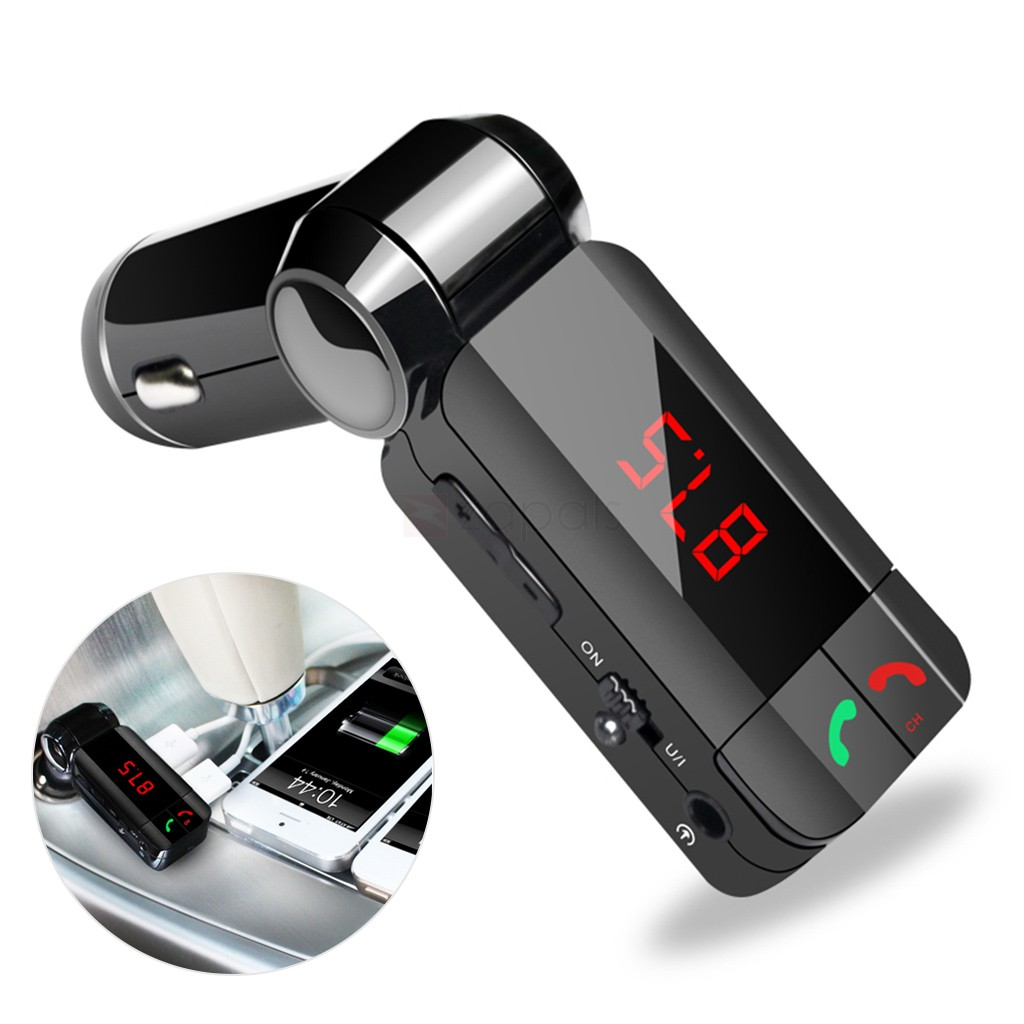2 In 1 Wireless Bluetooth Car Kit Dual Usb Car Charger